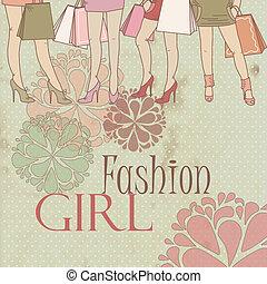 Beautiful fashionable girl