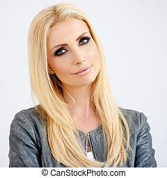 Beautiful fashionable young woman