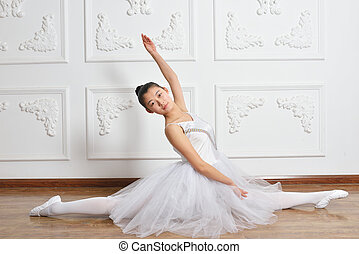 ballet - Beautiful female ballet dancer at a rehearsal