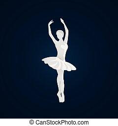 Beautiful female ballet dancer.