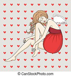 Beautiful female cupid