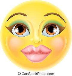 Beautiful Female Emoticon