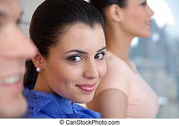 Beautiful Female Executive Smiling