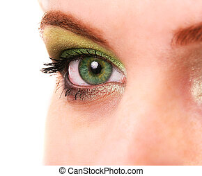 female eye with make up