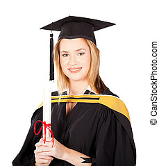 female university graduate portrait