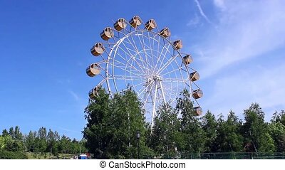 beautiful Ferris wheel in the Park