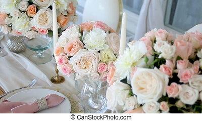 beautiful festive table decoration