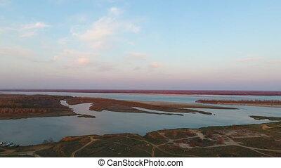 Beautiful field aerial shot
