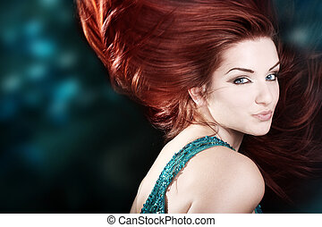 Beautiful fiery redhead - A beautiful fiery redhaired woman...