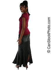 Beautiful Fifteen Year Old Teen in Casual Dress