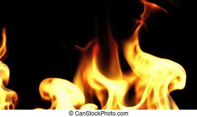Beautiful Fire in Slow Motion, Loop