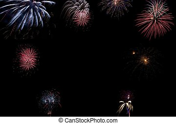 Beautiful firework with free space