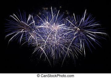 Beautiful fireworks - A beautiful fireworks in the night sky...