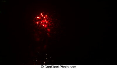Beautiful fireworks at the end
