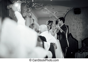 beautiful first dance of the bride and groom