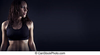 beautiful fitness body - Toned female fitness body