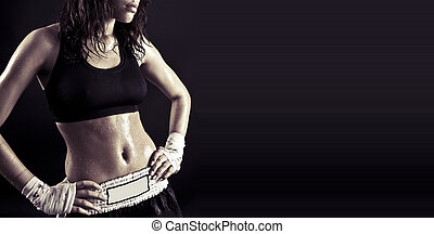 beautiful fitness body - Toned female fitness body