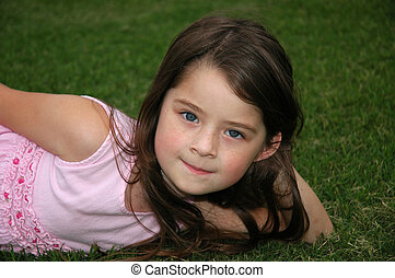 Beautiful Five Year Old Girl