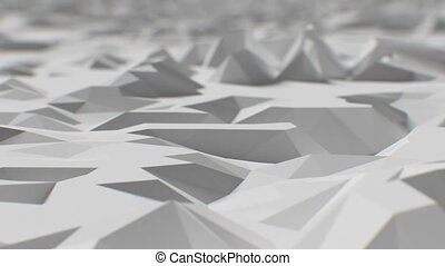 Beautiful Flight over Abstract Macro Surface with DOF. Science and Technology Concept. Looped 3d Animation