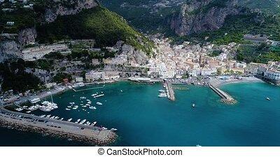Beautiful flight over Amalfi at Italy - Beautiful flight...