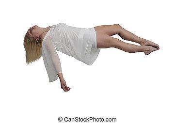 Beautiful Floating woman - Beautiful young woman floating in...