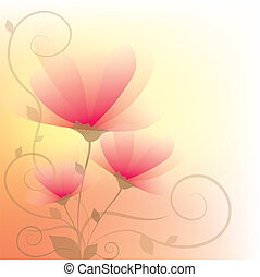 floral abstract - beautiful floral abstract background with...