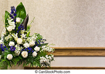 Beautiful Floral Arrangement - A beautiful white roses ...