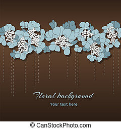 Beautiful floral background with blue flowers