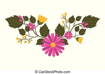 beautiful floral bunch of flowers arrangement