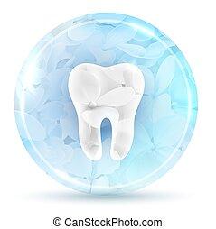 Beautiful floral dental icon design