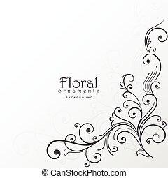 beautiful floral design background decoration
