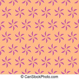 Beautiful floral geometric seamless vector pattern background.