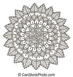 Beautiful Floral mandala. Vector Round Ornament Pattern....