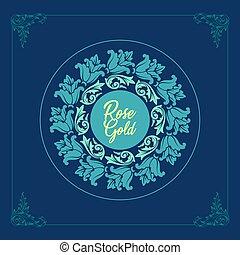 beautiful floral monogram design vector illustration logo and background