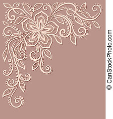 beautiful floral pattern, a design element in the old style. Many similarities to the author's profile