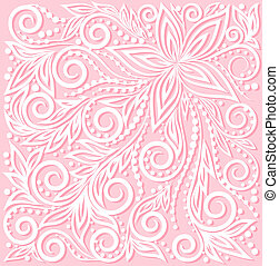 beautiful floral pattern, a design element in the wedding style. Many similarities to the author's profile