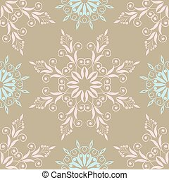 Beautiful floral pattern in vintage colours with blue and pink