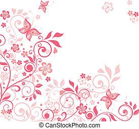 Beautiful floral pink card