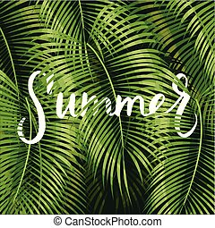 Beautiful floral summer pattern background with tropical...