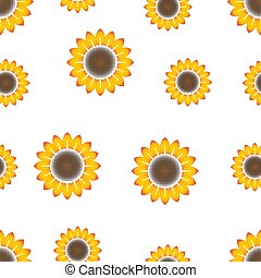 beautiful floral sunflower background seamless pattern