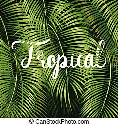 Beautiful floral tropical - Beautiful floral summer pattern...