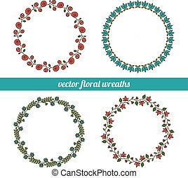 beautiful floral wreaths