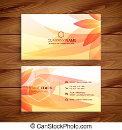 beautiful flower business card