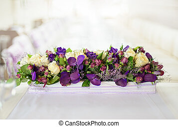 Beautiful flower composition on the