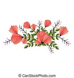 beautiful flower decoration card