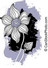 Beautiful flower. Hand drawn vector illustration