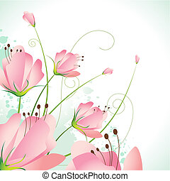 Beautiful Flower - illustration of beautiful flower on...