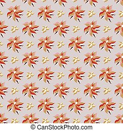 beautiful flower petals on a gray background seamless pattern vector illustration