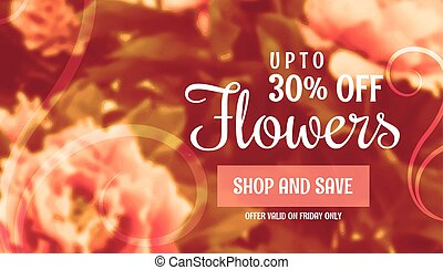 beautiful flower sale banner template for marketing and promotion