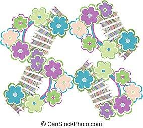 Beautiful flower seamless pattern, vector illustration texture vector background